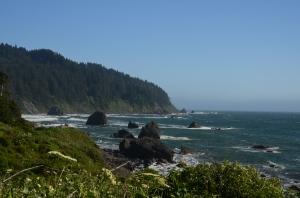 Küstenabschnitt in der Nähe des Redwood Nationalparks