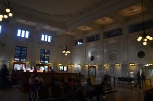 Warten auf den Zug von Seattle nach Vancouver